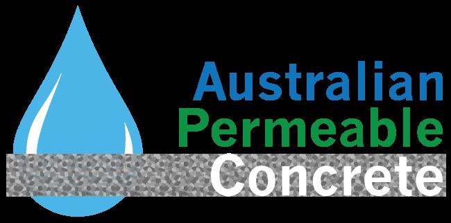 Logo for Australian Permeable Concrete Permeable concrete boutique supplier and installer